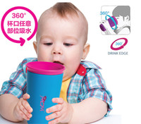 Wholesale 360 Spill Proof Drinking Cup ml Baby Kids Safe Drinking Training Cup Leakproof Children Magic Water Bottles with Lid