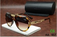 Cheap Czals Sunglasses 657 Glass Top Quality Cheap Men Women Sunglasses Brown Black Luxury Oversized Eyewear Oculosa
