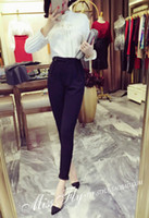 Wholesale Spring new South Korea han edition feet tall waist haroun pants women casual pants suit of cultivate one s morality pants nine minutes