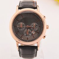 absolute watch - New Hot Absolute Luxury Mens Gold silver Chronograph Watches AR5905 CHRONOGRAPH WRIST WATCH discs for decoration only