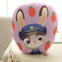 Wholesale Prettybaby Zootopia animal style Cartoon action movie Rabbit Judy Fox Nick model soft plush bolster