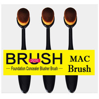 Wholesale Oval Brush Makeup Brushes Toothbrush shaped Foundation Brush Cream Puff Brush Power Makeup Beauty Cosmetic Foundation Blend Tools