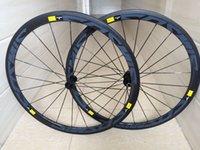 aero bike rims - New C mm clincher rims Road bike K UD K full carbon fibre bicycle wheelsets lightest aero spokes width MAVIC cosmic