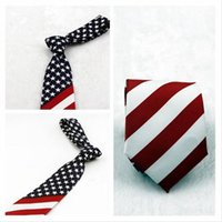 Wholesale 2016 new American flag tie Star geometric stripes necktie Fashionable and novel personality tie Performance tie