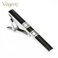 Wholesale Mens Classic Black Tie Clips For Wedding Business Steering wheel Tie Bar