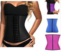 Wholesale Three layers nine bone fun palace Body sculpting clothing abdomen latex rubber corset design of the strong proud flesh contact B224