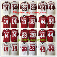 adrian peterson oklahoma jersey - Oklahoma Sooners Jersey Football Ncaa College Sam Bradford Adrian Peterson Brian Bosworth Jerseys White Red