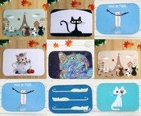 Wholesale 40 cm Cat Series Bath Mats Anti Slip Rugs Coral Fleece Carpet For For Bathroom Bedroom Doormat Online