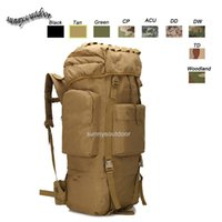 Wholesale Oudoor Sports Waterproof Tactical Pack Bag Rucksack Knapsack Assault Combat Military Camouflage Tactical L Hiking Backpack SO11