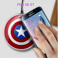 american dock - Qi Wireless Charger charging pad US AX Captain American Avengers Edition quick dock charger mat For SAMSUNG Galaxy S6 S7 DHL