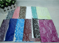 Wholesale 12pcs high quality lace material muslim head scarf muslim scarf women muslim headscarves