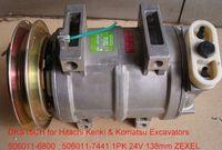Wholesale auto air compressor Zexel DKS15CH for Hitachi Kenki Hyundai Kobelco Komatsu Excavators