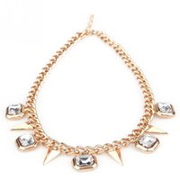 Wholesale Fashion Womens Laies Necklace Alloy Collar Chain Beauty Necklace With Styles Pendant Neck Chain QJ