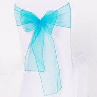 Wholesale DHL Fedex High Quality Organza Sashes Chair Bow For Wedding Party Decoration Colors Availbale