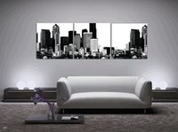 balloon flower picture - Home decoration unframed Pieces Canvas Prints Abstract black white oil painting New York branch bird flower Hot Air Balloon