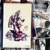 Wholesale PC Waterproof Large Monster Tattoo Fierce Wolf Blood Design Arm Sleeve Temporary Tattoo Men Women Shoulder Fake Tatoo Stickers