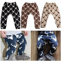 Wholesale 2016 pieces Kids Baby Boys Girls Deer Bottom Pants Leggings Harem Pants Trousers Casual T