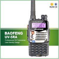 Wholesale New Baofeng UV RA For Police Walkie Talkies Scanner Radio Vhf Uhf Dual Band Ham Radio Transceiver Free Headset