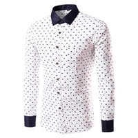 Wholesale 2016 New Hot Sale Men s Shirt Casual Business Fashion Style Long Sleeve Patchwork Print Linen Male Shirt Europe Chemise Homme