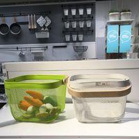 Wholesale Kitchenroom accessories storage baskets vegatable fruits washing baskets with handgrip household organizer kitchen tools