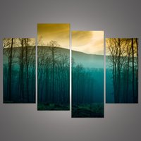 art tree images - Hot Sale Modern Abstract Huge Wall Art Painting On Canvas Sunrise Tree Landscape HD image h