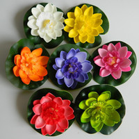 artificial water lilies - Water Lily Creative Decorative Flowers Simulation Artificial Floor Mounted Craft Ornaments for Home Garden Wedding Decorations