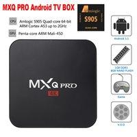Wholesale 2016 MXQ PRO Android TV Box Quad Core Amlogic S905 bit K HDMI KODI Miracast DLNA Pre installed Smart TV Box
