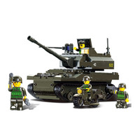 Wholesale Building Blocks Toy Sluban Tank DIY Block eductional Toy Military Army Makava Tank children toys Gifts
