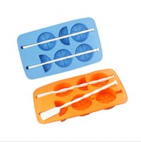 bar ice box - Silicone ice box Per Sheet Orange Shape Silicone Chocolate Lollipop Mold Ice Tray Soap Mould Brand New Good Quality