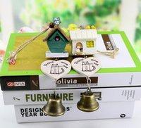 Maison d'oiseau rétro France-Wind Chimes Extérieur Bells Hanging Décorations pour un cadeau Bird House Résine vent carillons, rétro cloches