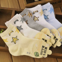 spring kids activities - 60pcs pairs Cute Kids socks Spring Autumn star print cotton character casual Baby Boy Girls sock activity children s socks