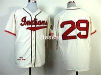 arrival mlb - New Fashion Baseball Jersey Arrival Men Cleveland Indians Mlb Jersey Cream Throwback Stitched Jerseys Mitchell And Ness Mlb Baseball Jersey