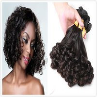 Wholesale African Aunty Funmi Hair Bouncy Curly Peruvian curly Weave Human Hair Bundles Fumi Peruvian Bouncy Curly Bob Hairstyle