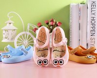 Wholesale Girls Sandals children Flat Sandal Shoes new Melissa jelly shoes cute owl shoes kids Soft bottom sandals girls fragrance sandals