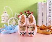 Wholesale Girls Sandals children Flat Sandal Shoes new Melissa jelly shoes cute owl shoes kids Soft bottom sandals girls fragrance sandals