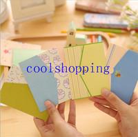 Plegables tarjeta de felicitación gracias tarjeta de cumpleaños tarjeta de Navidad sobre papel de escribir artículos de papelería 6pcs / set