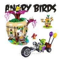 best islands - Angry Birds Bird Island Egg Heist Trike Building Blocks Models Toy Children Kids Best Gifts Toys Compatible With legoelieds