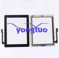Wholesale touch screen For Apple ipad ipad3 ipad4 touch panel digitizer screen glass replacement IPAD TOUCH