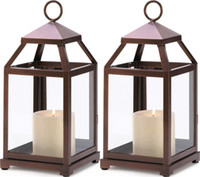 Wholesale CANDLE HOLDER LANTERN CENTERPICES SET OF BRONZE CONTEMPORARY