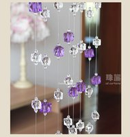 acrylic curtain rods - CU171 purple acrylic roman curtain with rod