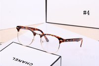 Wholesale 2016 New Fashion Women Men Designer Retro Star Glasses Clear Lens plain mirror Eyeglass Reading Spectacle Frame Nerd Geek Optical Eyewear