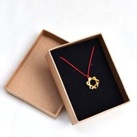 Wholesale 2016 hotsales Kraft paper box ring ear nail package retro gift packing boxes fine jewelry box custom