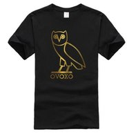 Wholesale NEW Mens Golden print Men polos hiphop drake OVO Owl luxury Men T shirt Cotton canada OVOXO gold print Brand clothing Coats