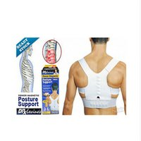 Wholesale 10pcs Men s and Women s Correct Belt Power Magnetic Posture Sport Back Support Strap Postural Correction Belt Chiropractic vest