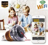 Wholesale WIFI P HD SPY DVR Hidden Camera mini camera IR Night T77A Vision Light Bulb VideoRecorder Camera