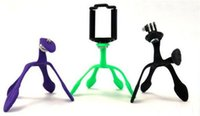 Wholesale Mini Tripod Mount Portable and Flexible Stand Holder for Smartphone iPhone Galaxy LG Fit All Smartphones Color Box