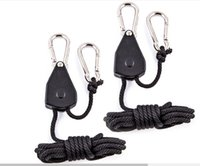 adjustable ratchet - 2pcs Inch Adjustable Heavy Duty Rope Ratchet Hanger with m PP Rope for Hanging Reflectors Light Fixtures Carbon Filter Ventilation