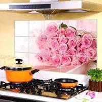 american stoves - Novely cm Kitchen Wall Stickers Foil oil Sticker Decal Home Decor Cabinet Stove Stickers Decorations Supplies Products