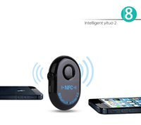 Wholesale Wireless Bluetooth Receiver Car Bluetooth Music Receiver mm AUX IN HandsFree NFC Bluetooth Car Kit for Car Home Stereo System