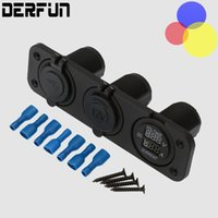 Wholesale Dual usb port A V RV Motorcycle yacht Car charger Cigarette lighter LED Power Voltage Display for VAN Truck Boat